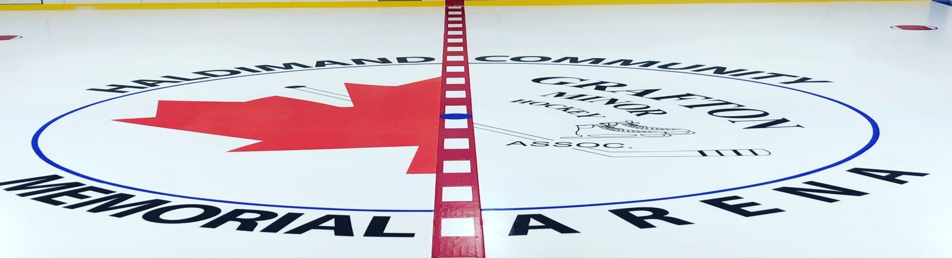centre ice of a hockey arena