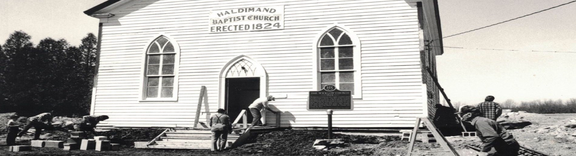 old church building being built